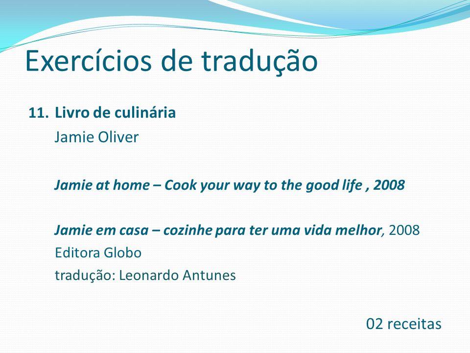 Exercícios de tradução