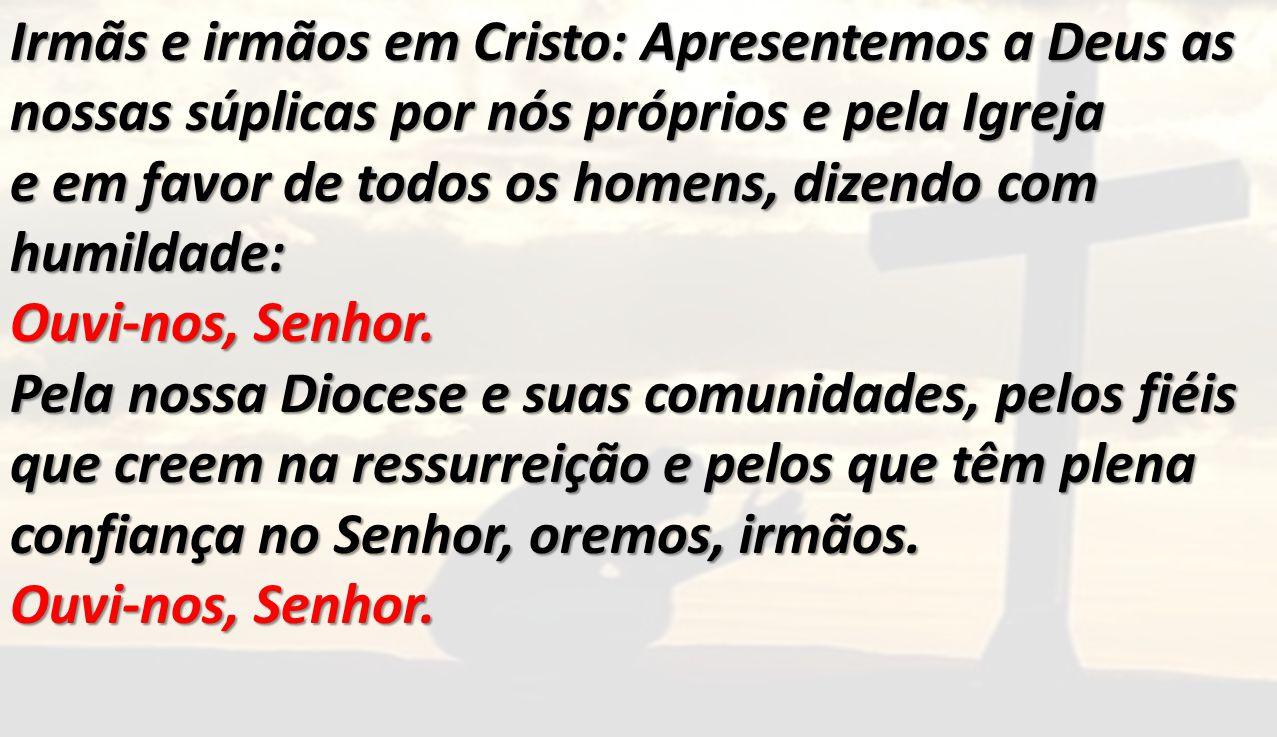 Irmãs e irmãos em Cristo: Apresentemos a Deus as nossas súplicas por nós próprios e pela Igreja