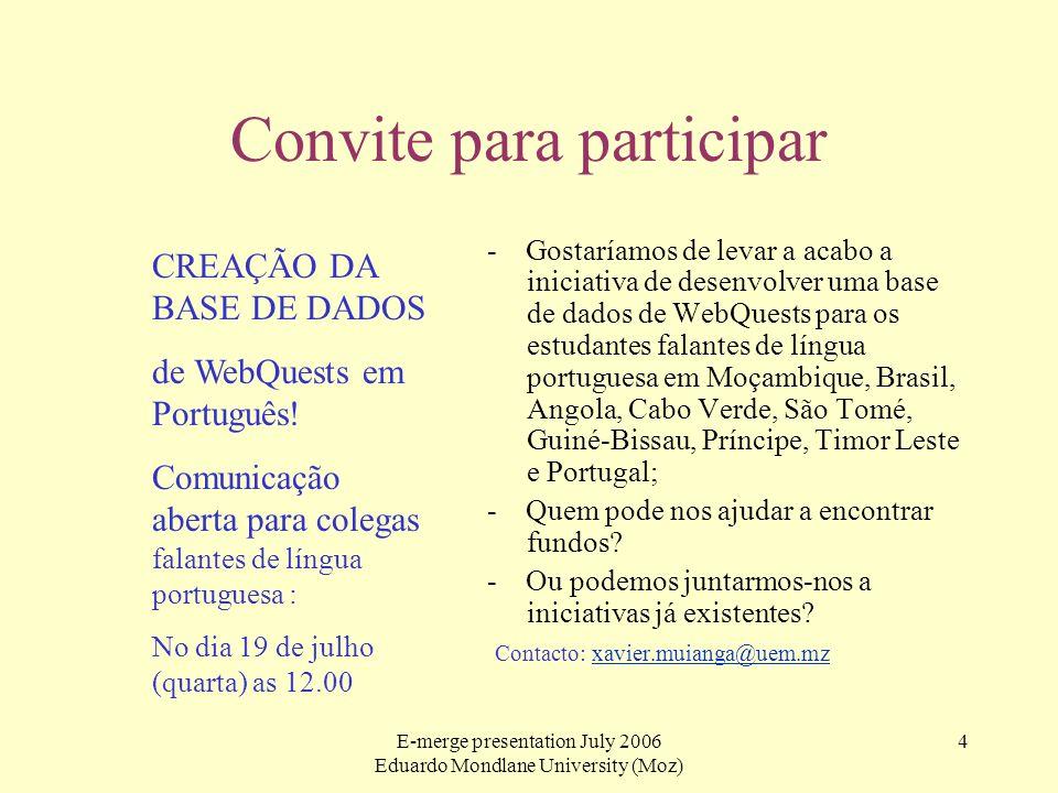 Convite para participar