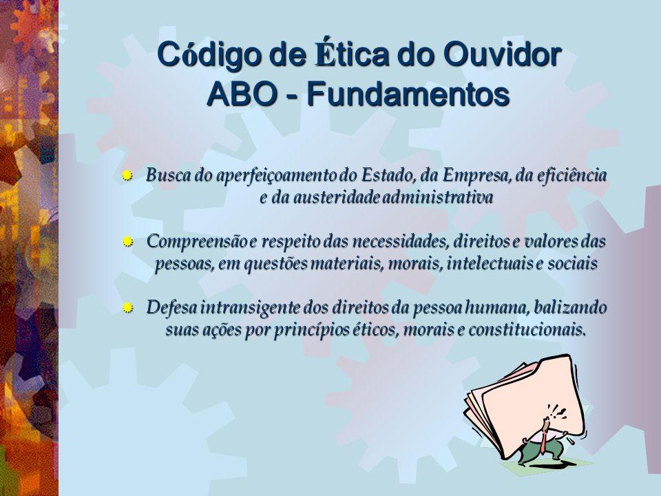 Código de Ética do Ouvidor ABO - Fundamentos