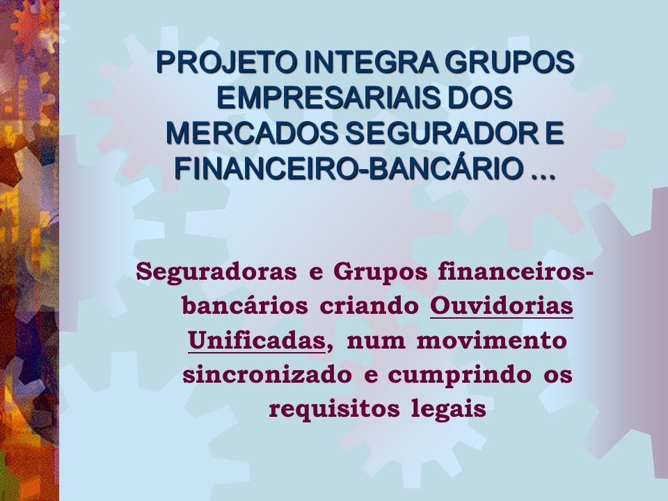 PROJETO INTEGRA GRUPOS EMPRESARIAIS DOS MERCADOS SEGURADOR E FINANCEIRO-BANCÁRIO ...