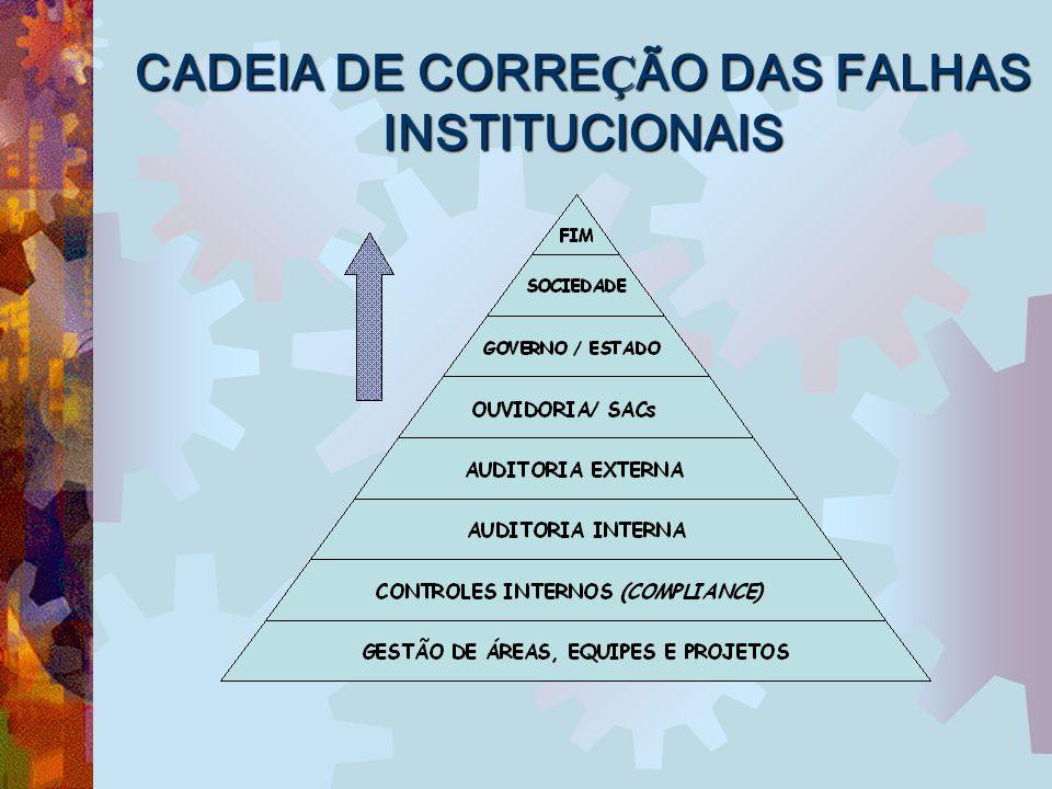 CADEIA DE CORREÇÃO DAS FALHAS INSTITUCIONAIS