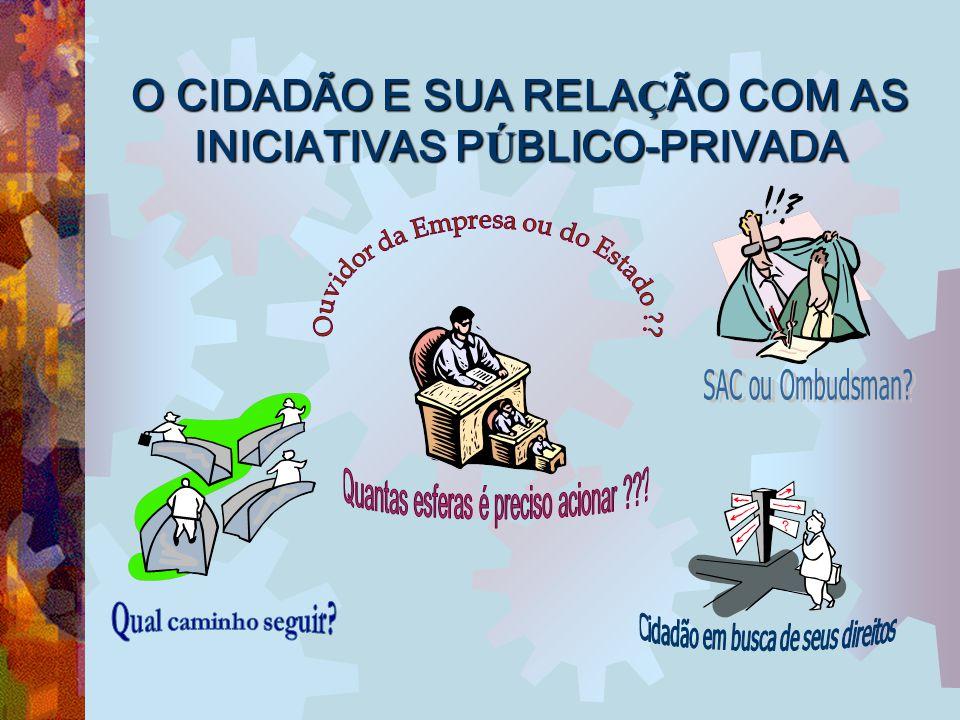 O CIDADÃO E SUA RELAÇÃO COM AS INICIATIVAS PÚBLICO-PRIVADA