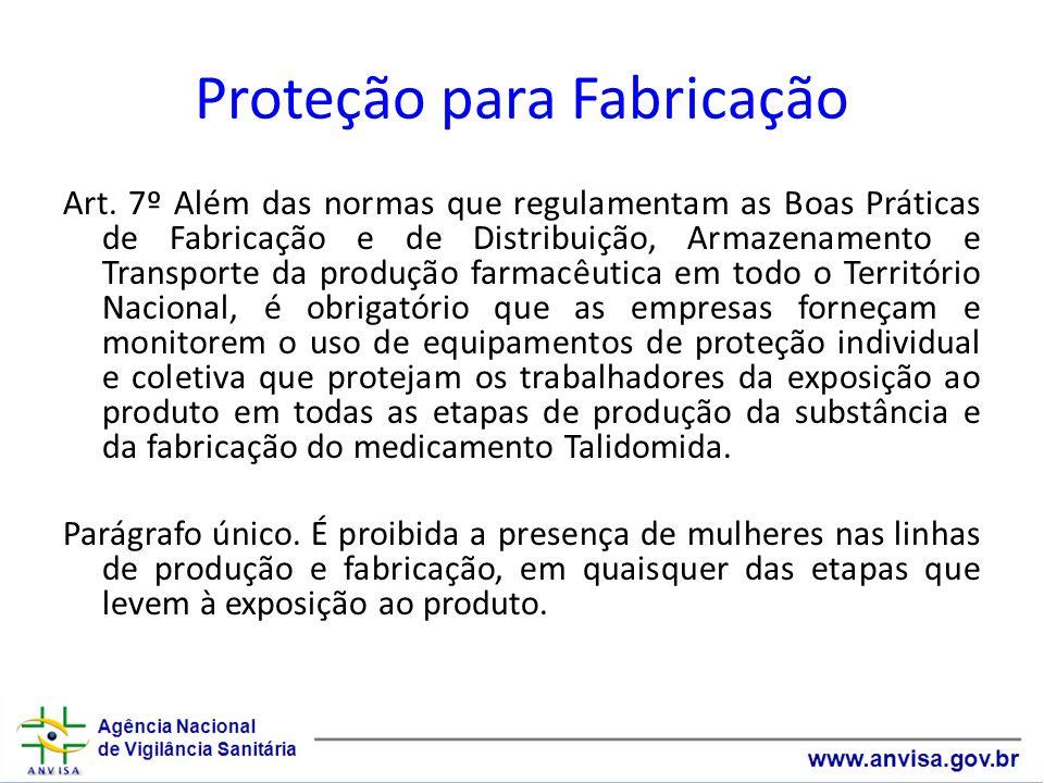Proteção para Fabricação