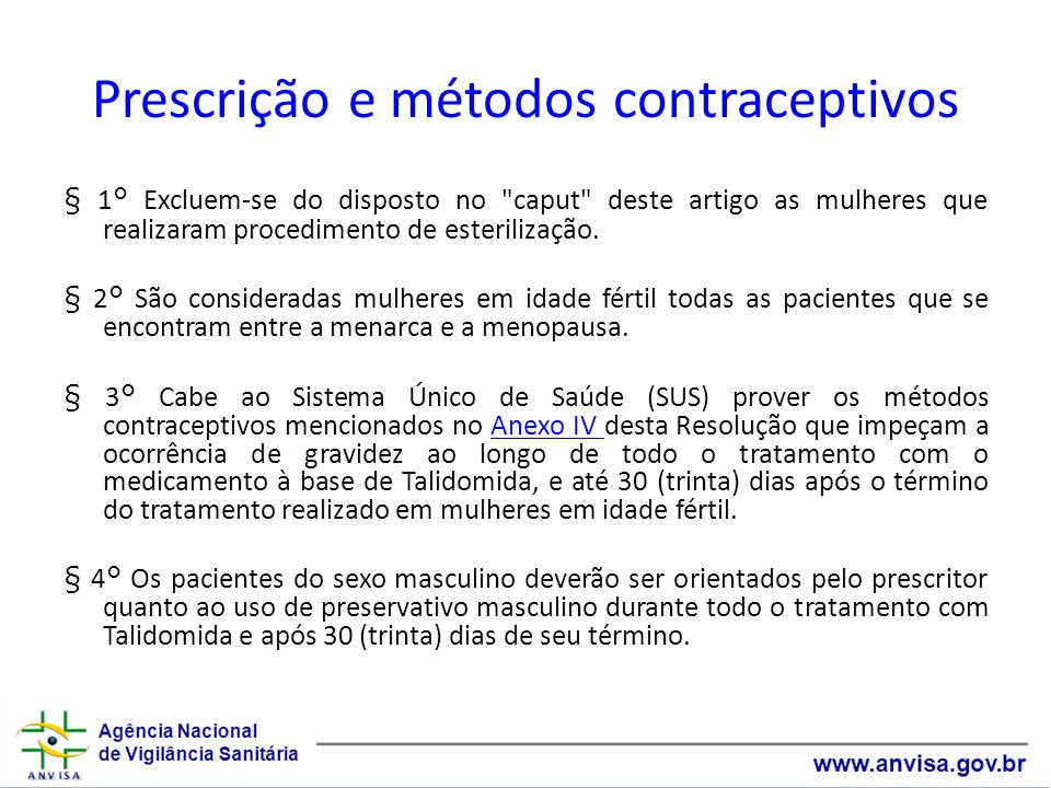 Prescrição e métodos contraceptivos