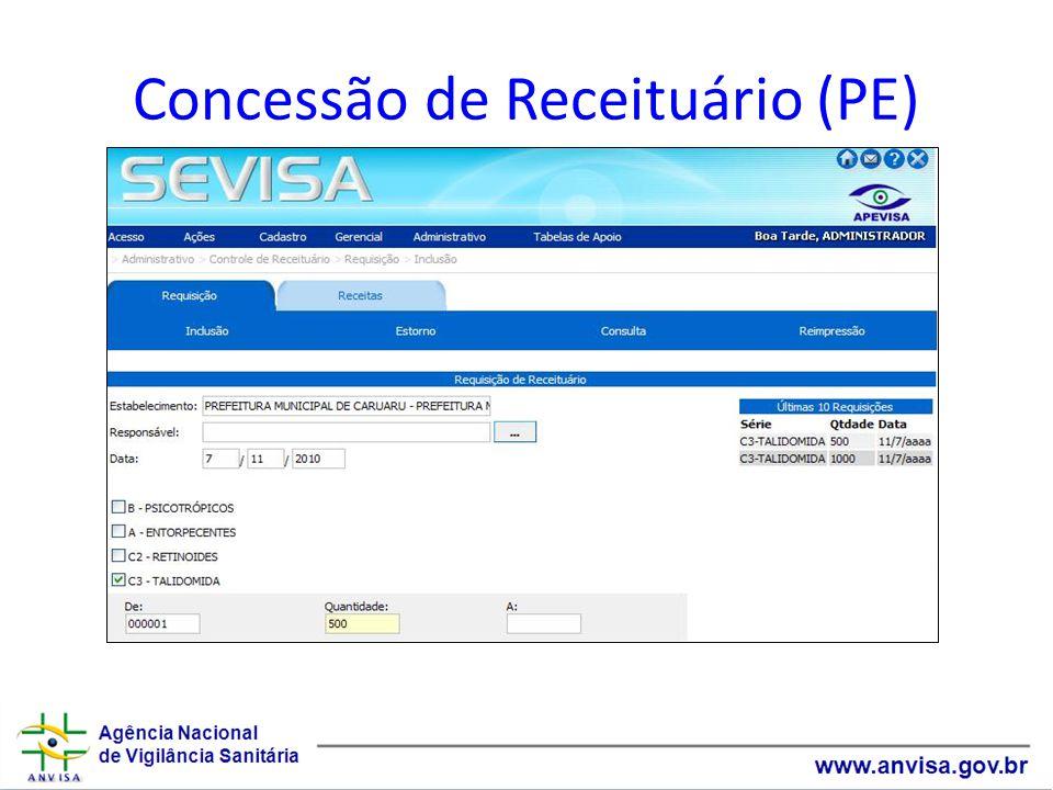 Concessão de Receituário (PE)