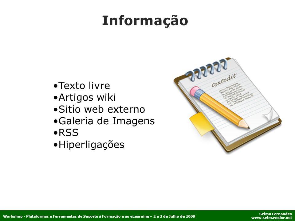 Informação Texto livre Artigos wiki Sitío web externo