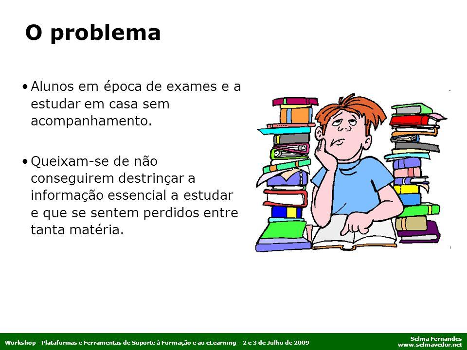 O problema Alunos em época de exames e a estudar em casa sem acompanhamento.
