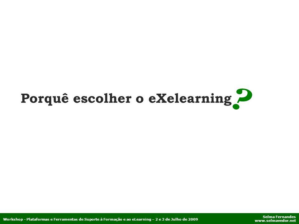 Porquê escolher o eXelearning