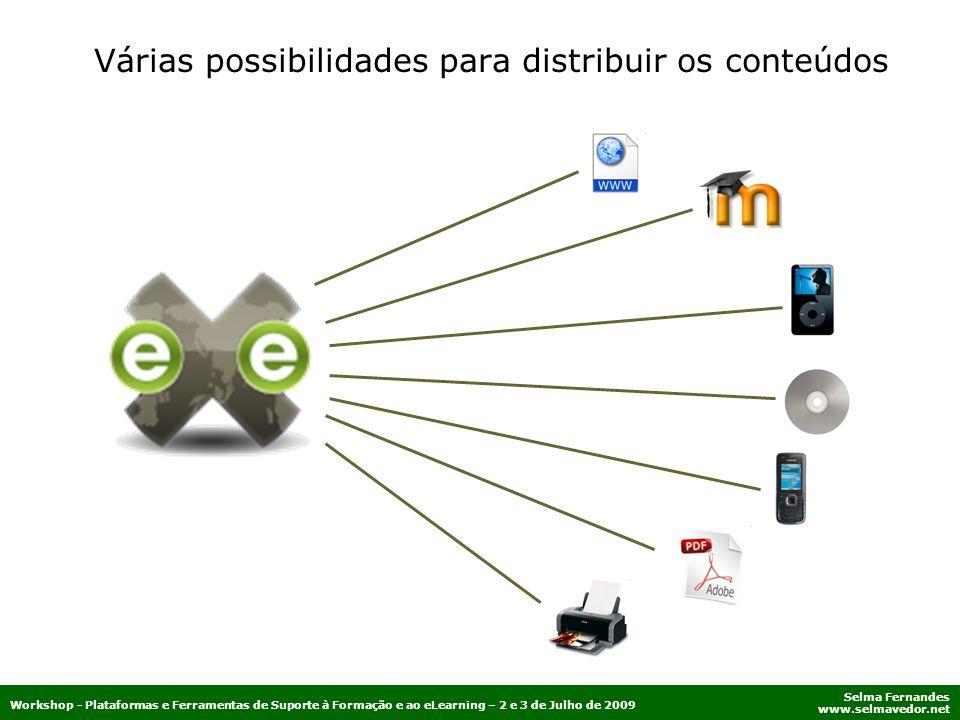 Várias possibilidades para distribuir os conteúdos