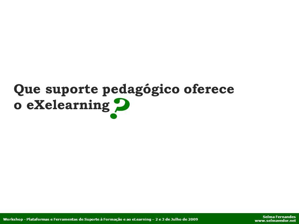 Que suporte pedagógico oferece o eXelearning