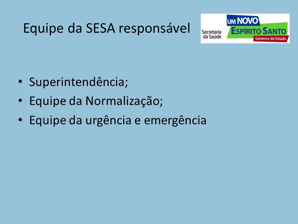 Equipe da SESA responsável