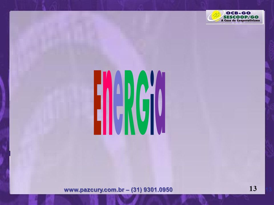 EneRGia 13 www.pazcury.com.br – (31) 9301.0950