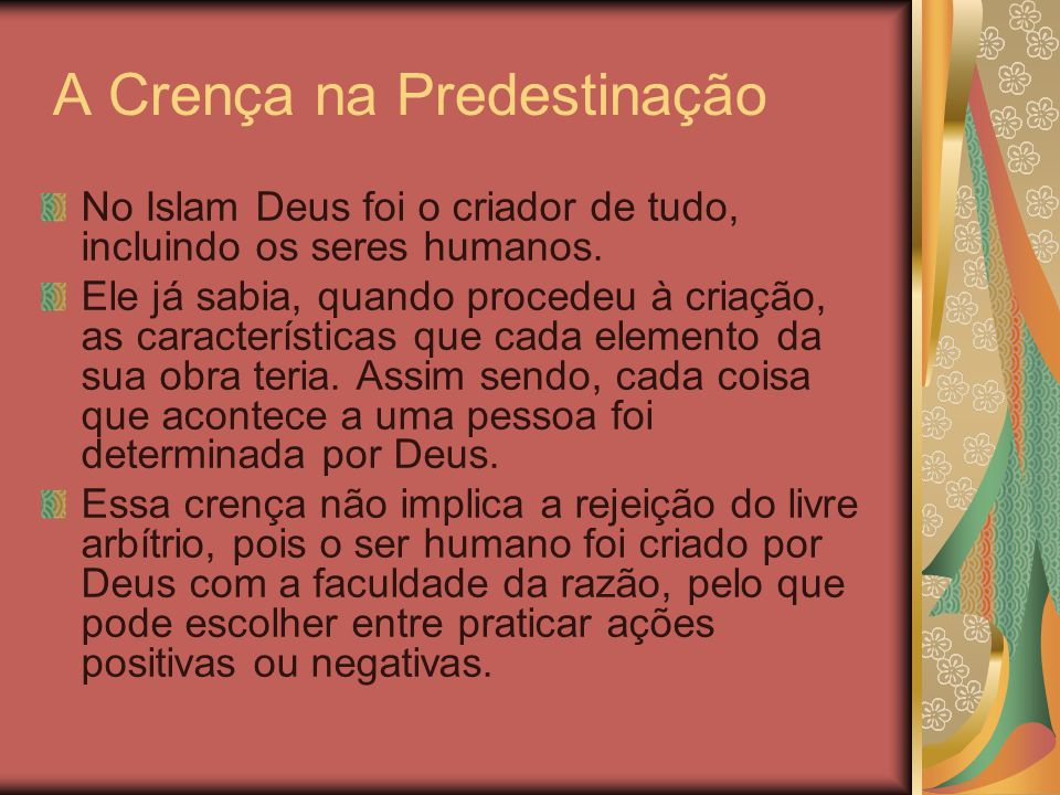 A Crença na Predestinação