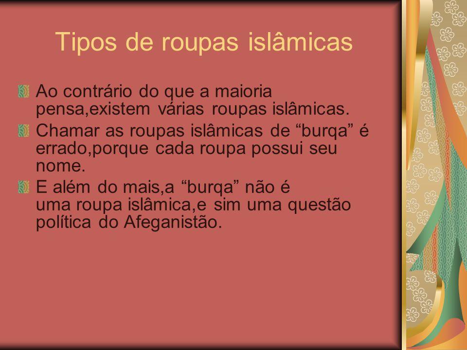 Tipos de roupas islâmicas