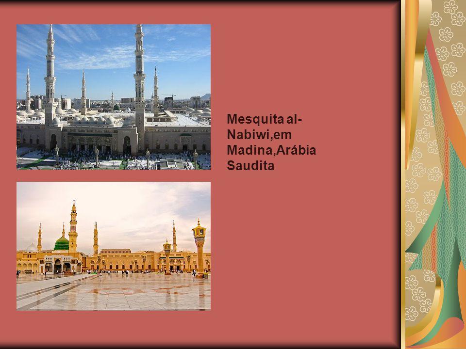 Mesquita al-Nabiwi,em Madina,Arábia Saudita