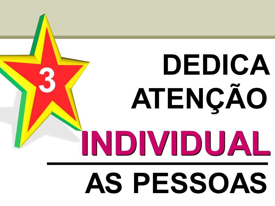 DEDICA ATENÇÃO ______________ AS PESSOAS 3 INDIVIDUAL