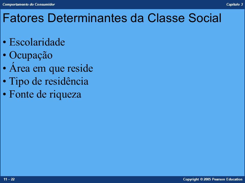 Fatores Determinantes da Classe Social