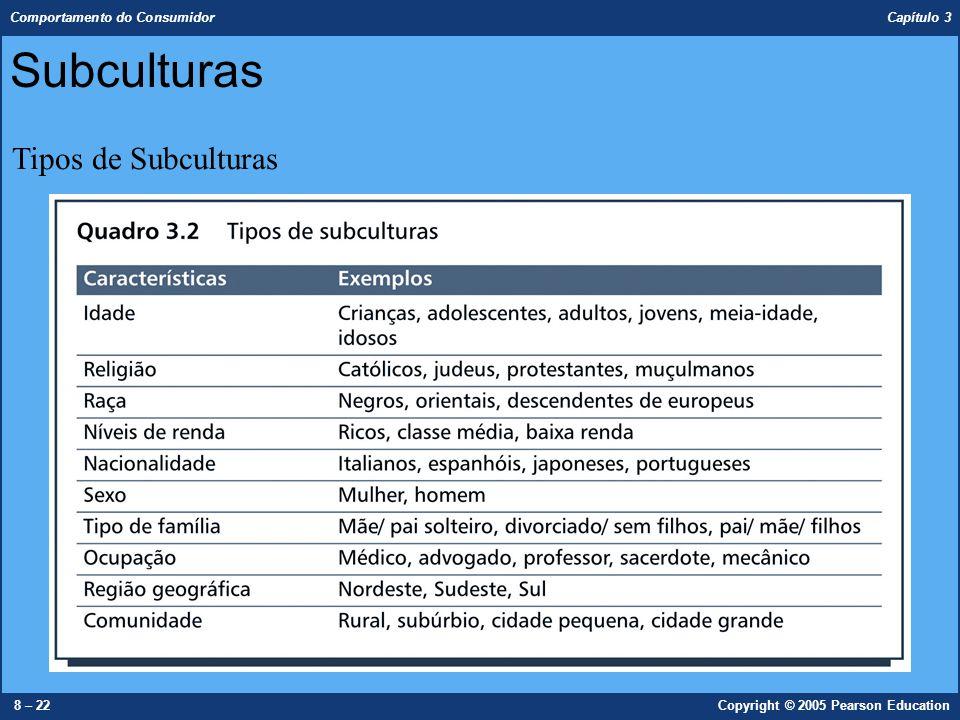 Subculturas Tipos de Subculturas