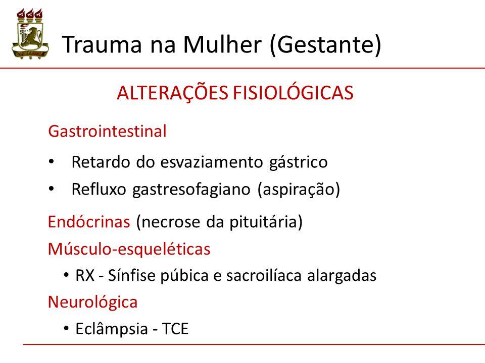 ALTERAÇÕES FISIOLÓGICAS