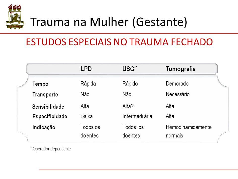 ESTUDOS ESPECIAIS NO TRAUMA FECHADO
