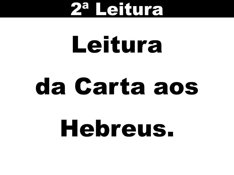 2ª Leitura Leitura da Carta aos Hebreus.