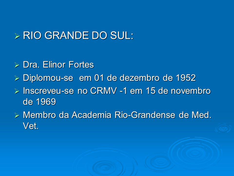 RIO GRANDE DO SUL: Dra. Elinor Fortes