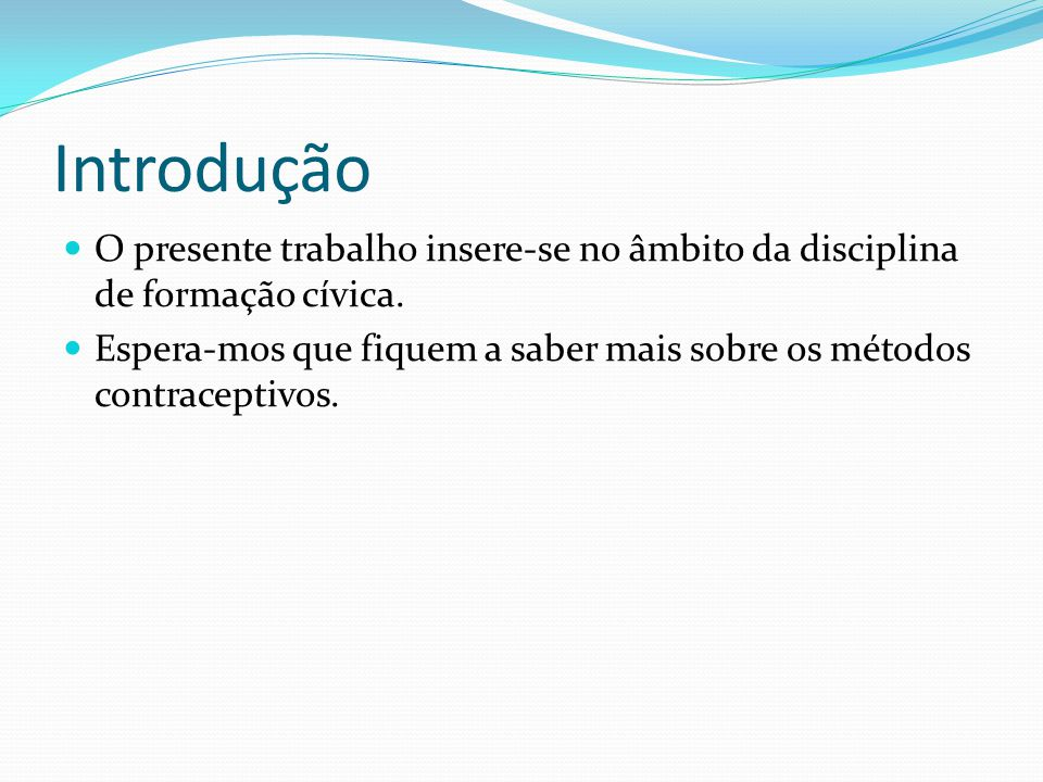 Introdução O presente trabalho insere-se no âmbito da disciplina de formação cívica.