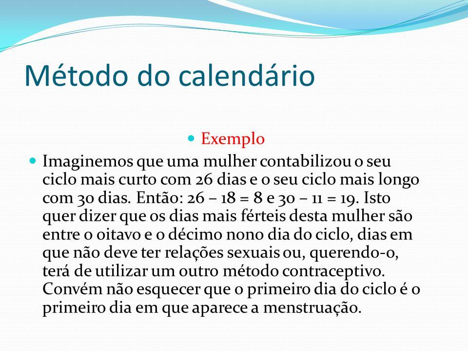 Método do calendário Exemplo