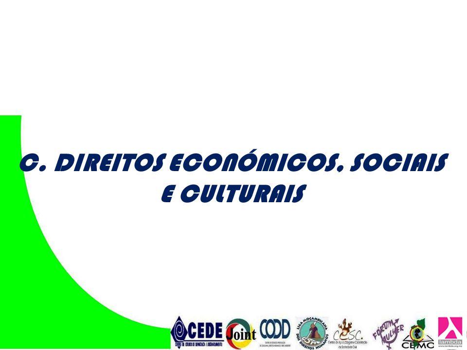 C. DIREITOS ECONÓMICOS, SOCIAIS E CULTURAIS