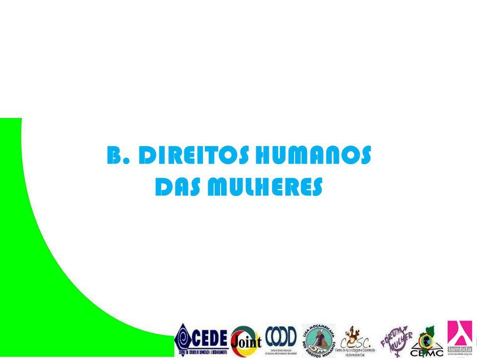 B. DIREITOS HUMANOS DAS MULHERES