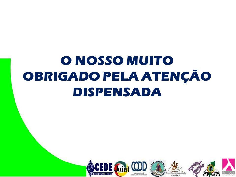 OBRIGADO PELA ATENÇÃO DISPENSADA