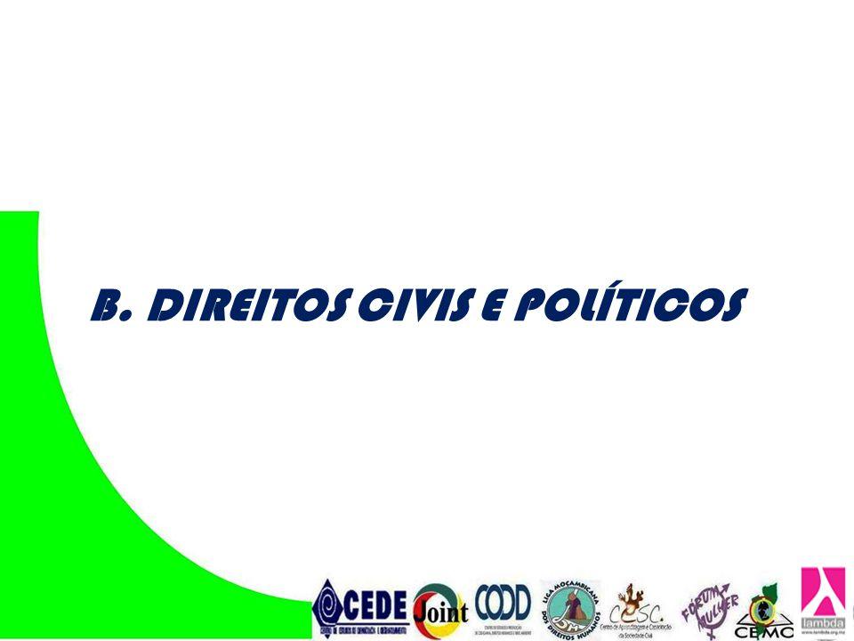 B. DIREITOS CIVIS E POLÍTICOS