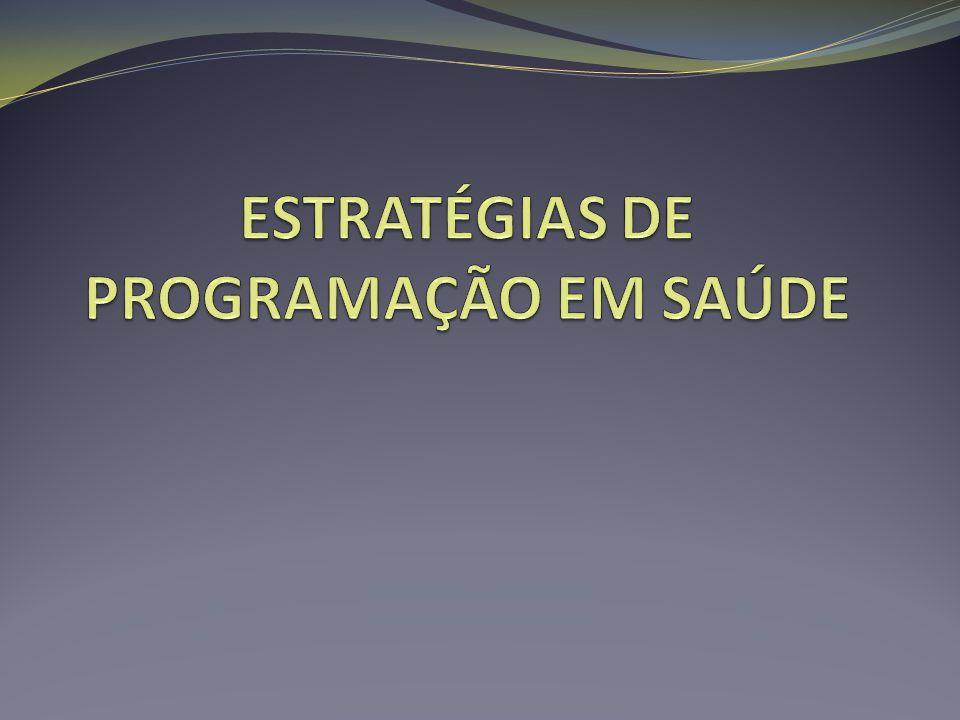 ESTRATÉGIAS DE PROGRAMAÇÃO EM SAÚDE