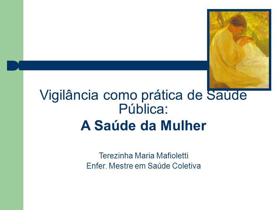 Vigilância como prática de Saúde Pública: A Saúde da Mulher