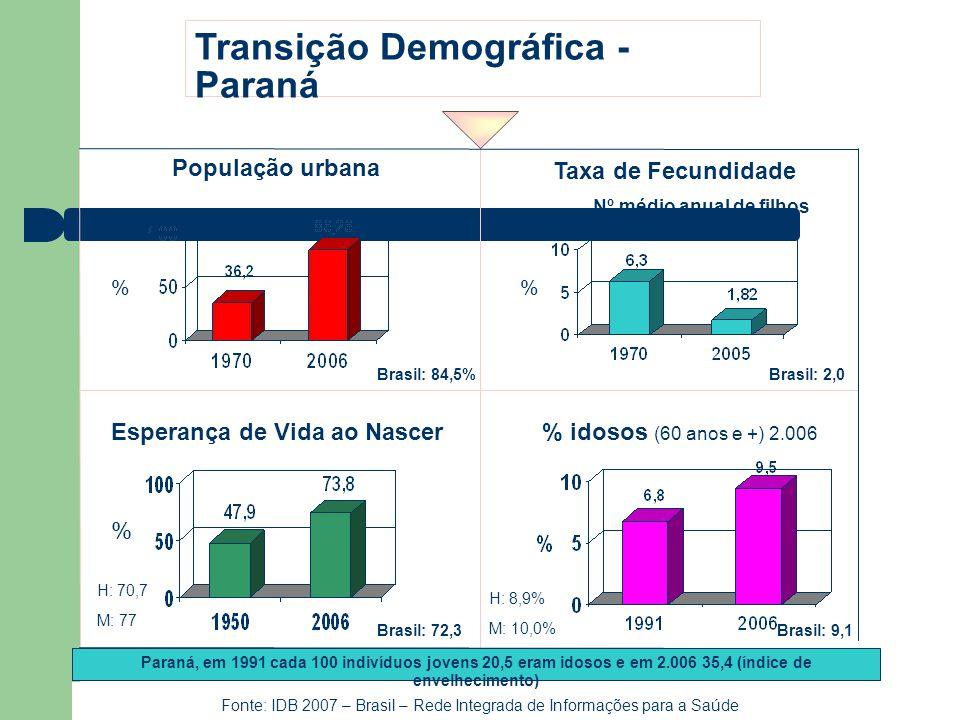 Fonte: IDB 2007 – Brasil – Rede Integrada de Informações para a Saúde