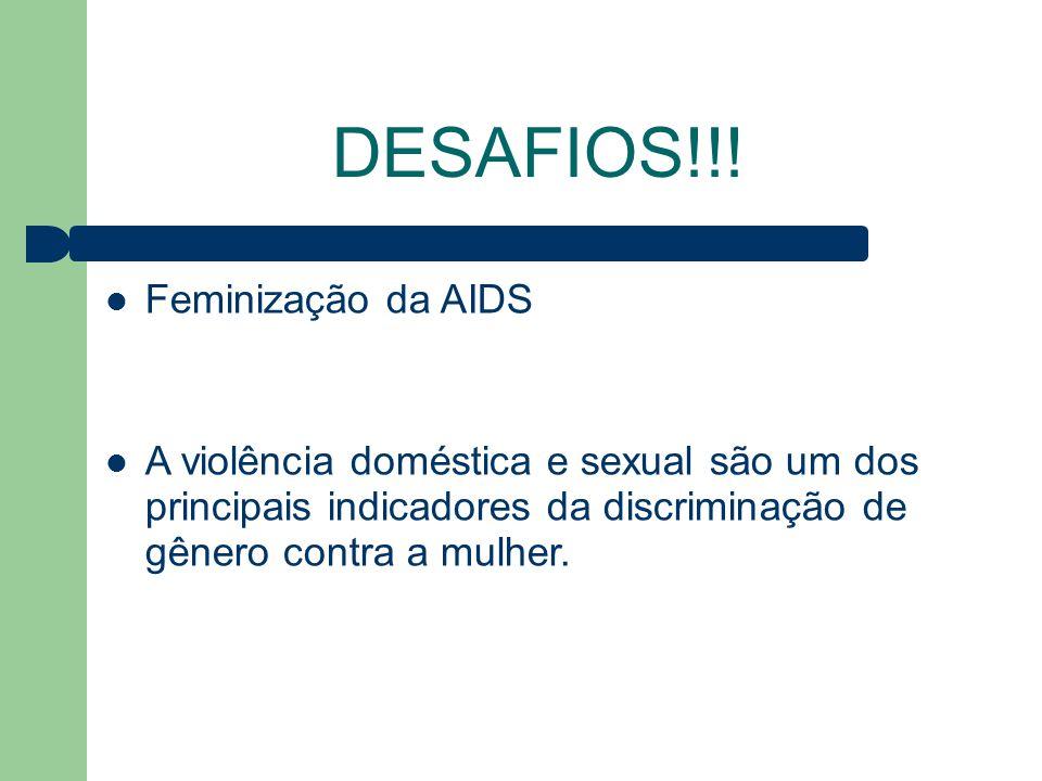 DESAFIOS!!! Feminização da AIDS