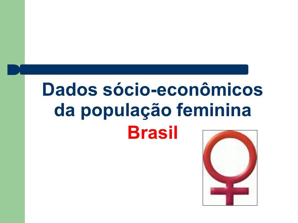 Dados sócio-econômicos da população feminina