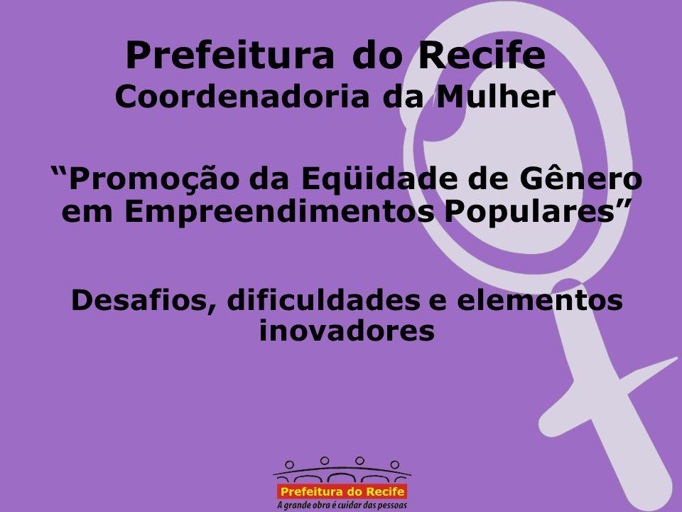 Prefeitura do Recife Coordenadoria da Mulher