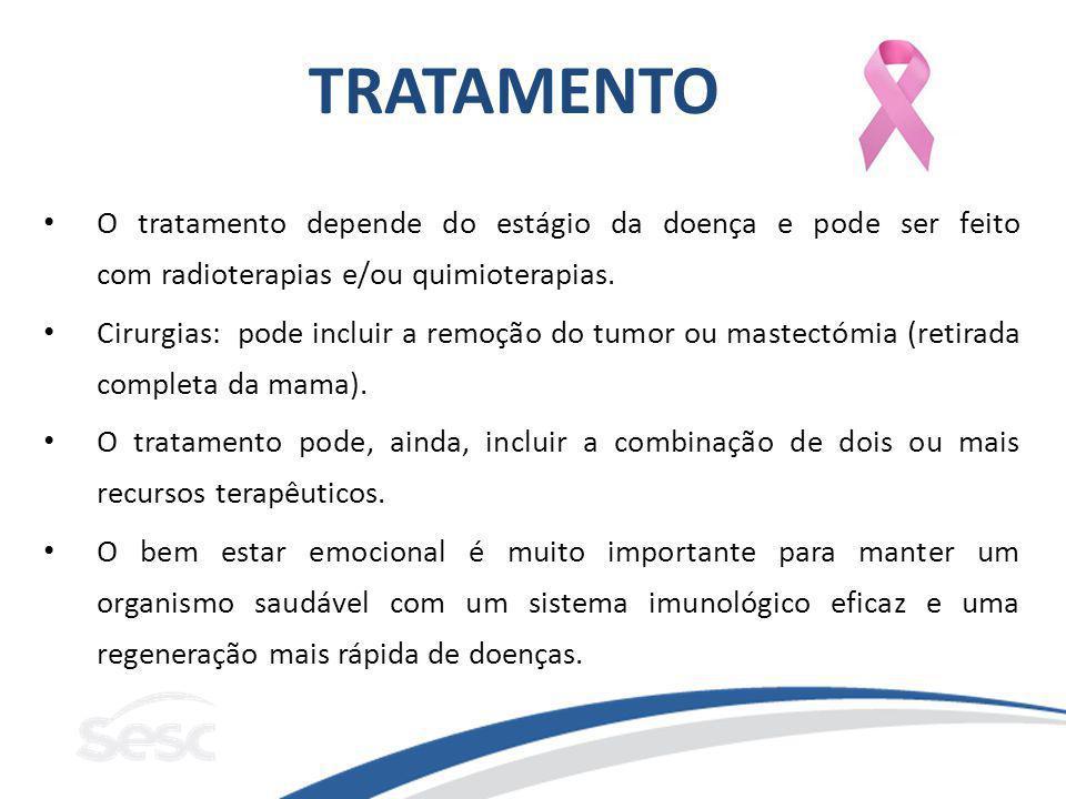TRATAMENTO O tratamento depende do estágio da doença e pode ser feito com radioterapias e/ou quimioterapias.