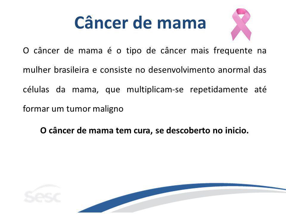O câncer de mama tem cura, se descoberto no inicio.