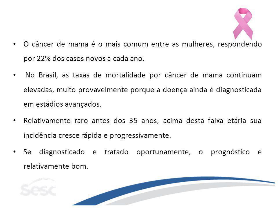 O câncer de mama é o mais comum entre as mulheres, respondendo por 22% dos casos novos a cada ano.