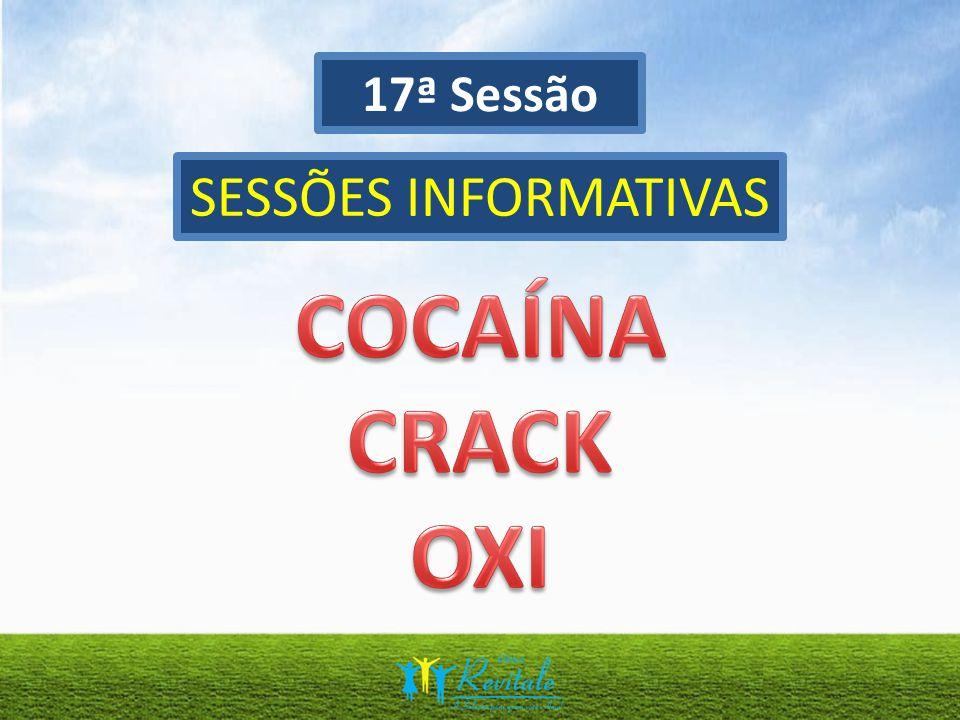 17ª Sessão SESSÕES INFORMATIVAS COCAÍNA CRACK OXI