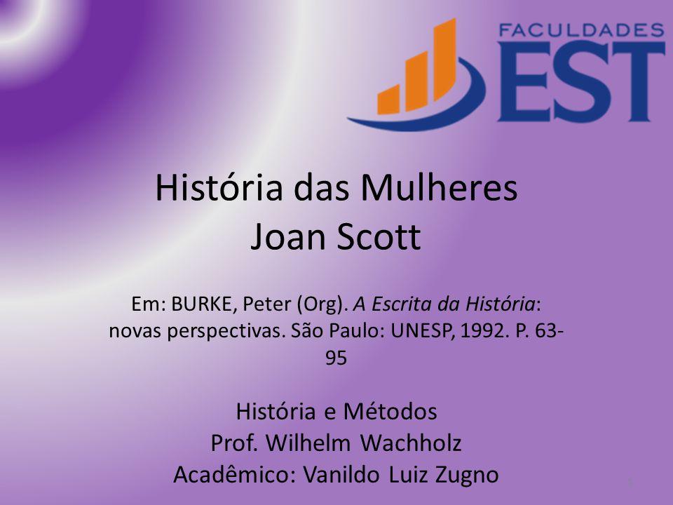 História das Mulheres Joan Scott
