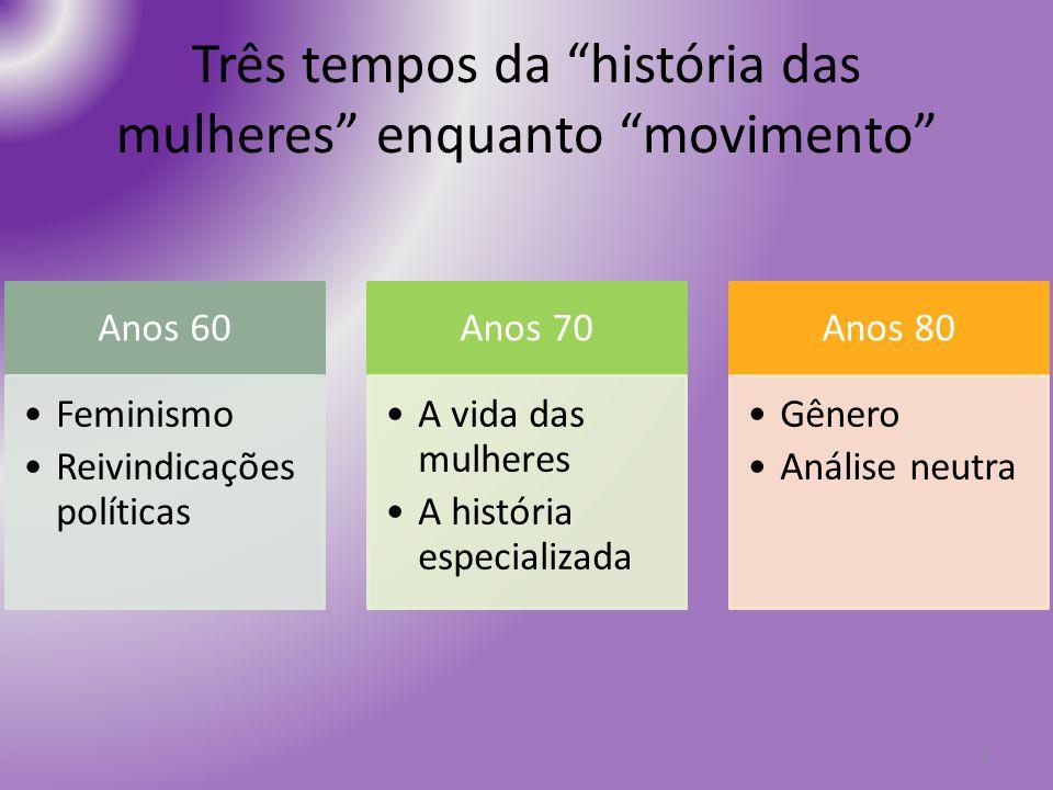 Três tempos da história das mulheres enquanto movimento