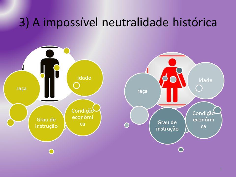 3) A impossível neutralidade histórica