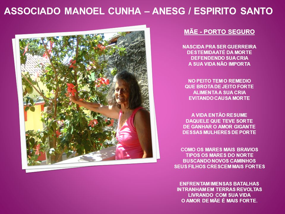 ASSOCIADO MANOEL CUNHA – ANESG / ESPIRITO SANTO
