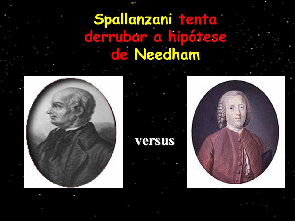Spallanzani tenta derrubar a hipótese de Needham