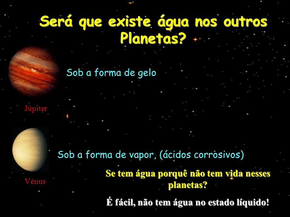 Será que existe água nos outros Planetas
