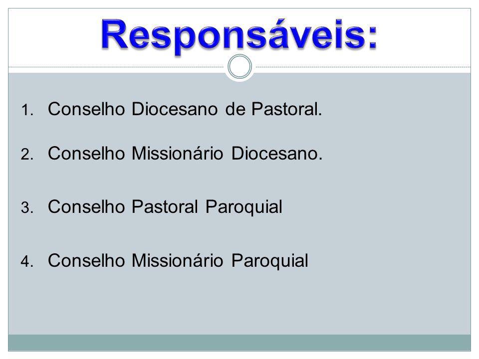 Responsáveis: Conselho Diocesano de Pastoral.